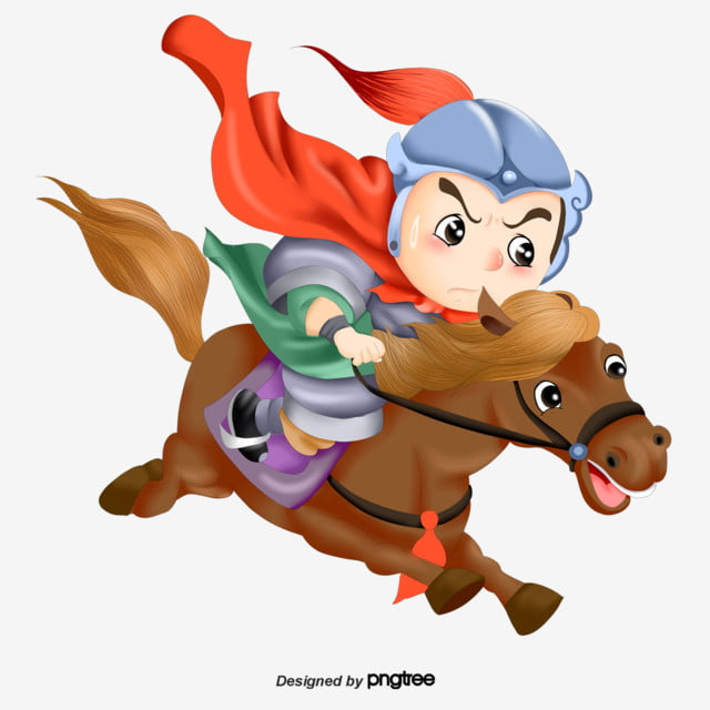 Cartoon Version Of The General Riding A Horse Man Character General Png Transparent Clipart Image And Psd File For Free Download