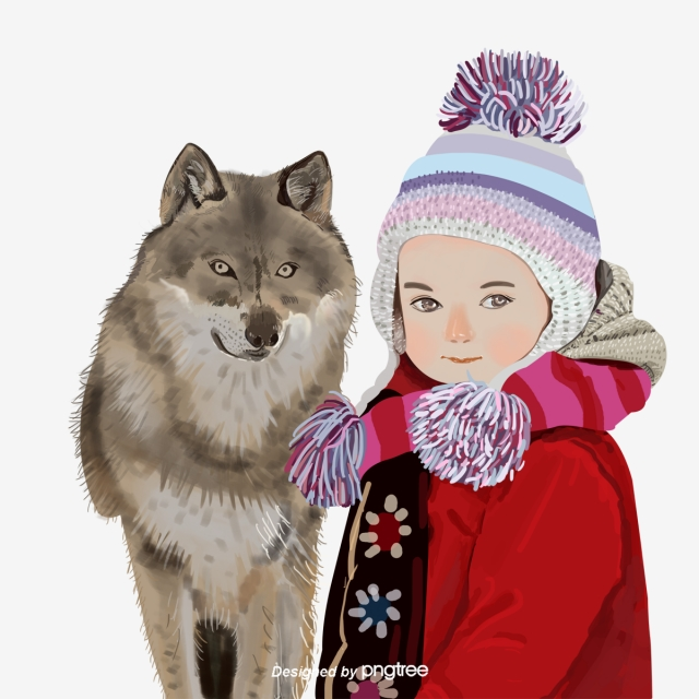 Ferocious Animal Snow Wolf Kid Character Winter Ferocious Animal Child Png Transparent Clipart Image And Psd File For Free Download