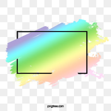original holographic gradient brush border element, Copyrighted, Holographic Colour, Rainbow Gradient PNG and PSD