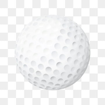 Flat Golf Ball On White Background Flat Golf Ball Png And Vector With Transparent Background For Free Download