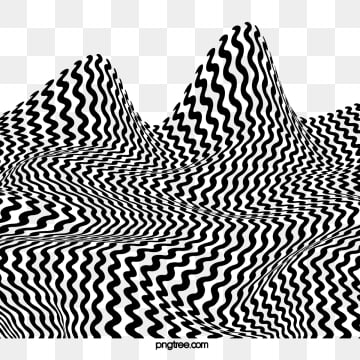 wavy stripes black and white solid mountain elements, Black And White, Zebra Pattern, Flow PNG and PSD