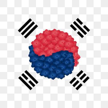 한국 깃발 히비스커스, 한국, 한국, 국기 PNG 및 PSD