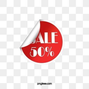 round half price hot sale promotion label, Round Label, Promotional Labels, Red Label PNG and PSD