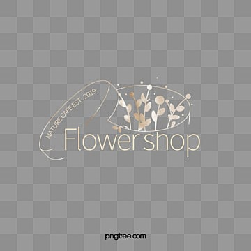simple creative florist logo, Line Pattern, Hand Painted Flower Box, Plant Foliage PNG and PSD