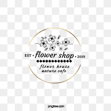 golden round frame flower and leaf flower shop label, Leaf, Round Box, Label PNG and PSD