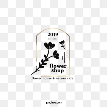 golden border plant element 2019 florist label, 2019, Leaf, Label PNG and PSD