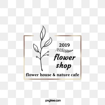 golden box 2019 plant element florist label, Black, Label, Florist PNG and PSD