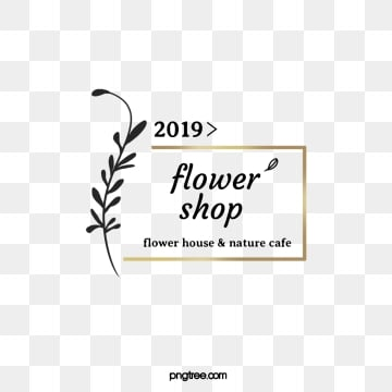 golden box plant 2019 florist label, Golden Square, Frame, Florist PNG and PSD