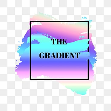 gradient rainbow border text label, Label, Iridescent Color, Border Text PNG and PSD