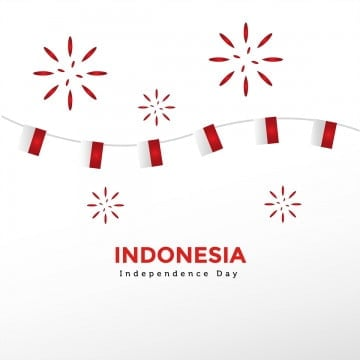 indonesia independence day with conffeti, Indonesia, Day, Independence PNG and PSD
