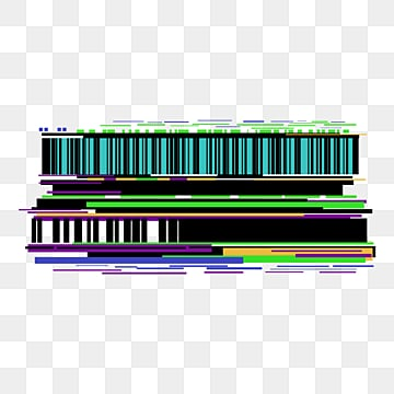 fault style pixel error tv noise geometric border, Glitch, Pixel Error, Tv Noise PNG and PSD