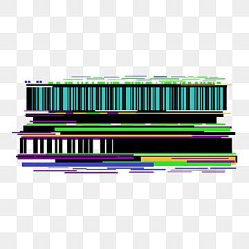 Fault style pixel error TV noise geometric border, Glitch, Pixel Error, TV Noise PNG and PSD