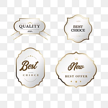 golden vector texture member badge sticker, Label, Metal, Badge PNG and PSD