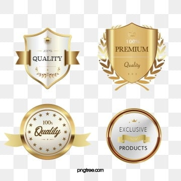 golden vector texture member badge sticker, Badge, Label, Metal PNG and PSD