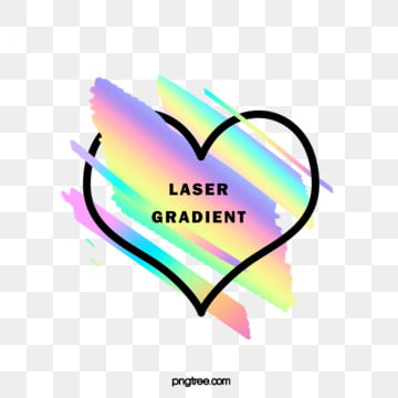 holographic rainbow brush love crossing the border, Heart Love, Brush, Black PNG and PSD