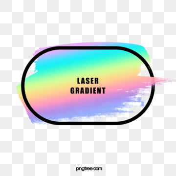 holographic rainbow brush round rectangle border, Brush, Round Rectangle, Frame PNG and PSD