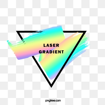 holographic rainbow color stereo brush triangle border, Black, Frame, Gradient PNG and PSD