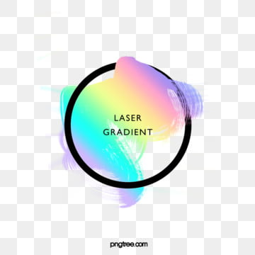 holographic rainbow color watercolor brush round border, Circular, Brush, Black PNG and PSD