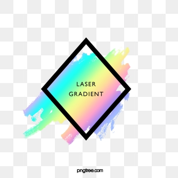 holographic rainbow colored irregular brush diamond border, Holographic, Iridescent Color, Brush PNG and PSD