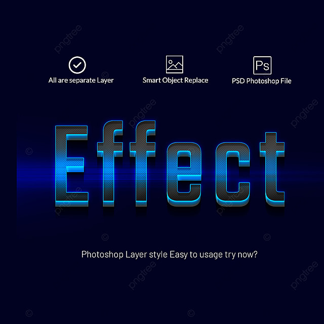 3d photoshop layer style text effects Art Font For Free Download