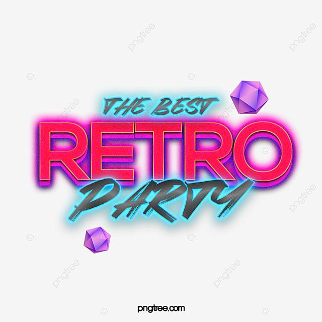 Retro Fashion Neon Effect 80s Theme Art Word Art Font For