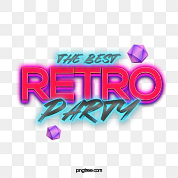 80s color gradient style neon effect word design Art Font For Free