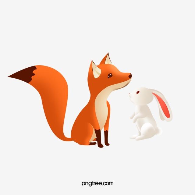Renard De Lapin Style Dessin Anime Carton Animal Forestier