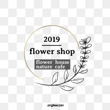 2019 round golden box plant florist label, Round, 2019, Florist PNG and PSD