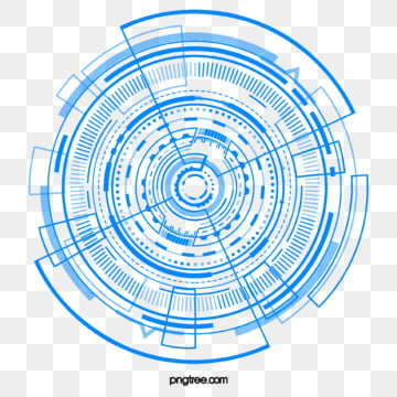blue data technology circle element, Blue, Data, Technology PNG and PSD