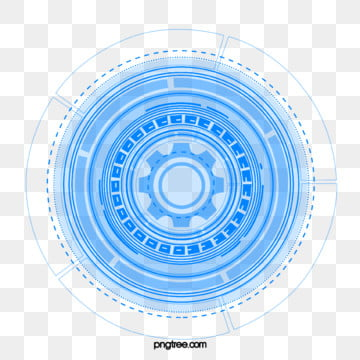 blue data technology dynamic circle element, Blue, Data, Technology PNG and PSD