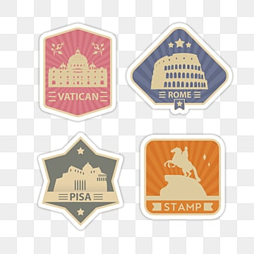 creative geometric stamp sticker, Sticker, Decoration, Label PNG and PSD