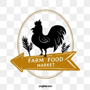farm supermarket poultry linear label, Farm, Supermarket, Chicken PNG and PSD