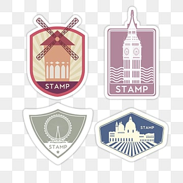 national vintage stamp sticker, Sticker, Decoration, Label PNG and PSD