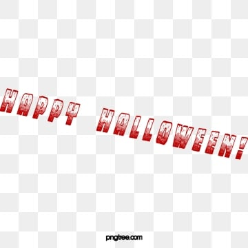 Free Download | English Red Blood Happy Halloween Font PNG