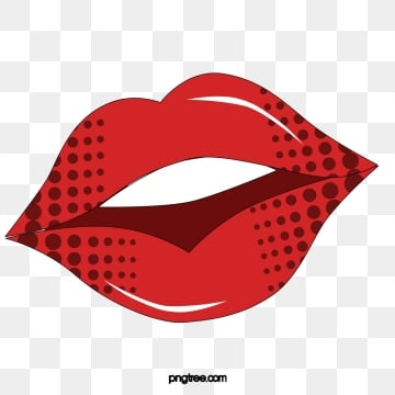 Lips red. Png vector psd and