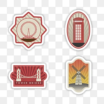 retro city sign stamp sticker, Sticker, Decoration, Label PNG and PSD