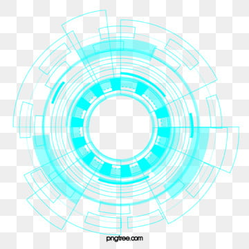 tech blue data circle element, Blue, Technology, Data PNG and PSD