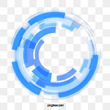 tech style blue circle, Geometric Circle, Technological Sense, Sign PNG and PSD