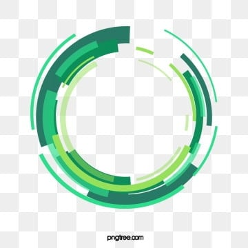 tech style digital green circle, Geometric Circle, Sign, Symbol PNG and PSD