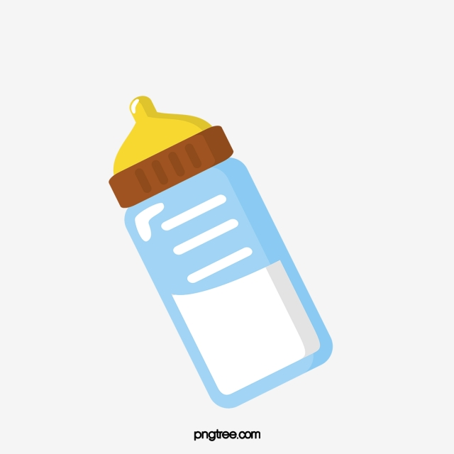 Cartoon Cute Bottle Illustration Feeding Bottle Yellow Blue Png Transparent Clipart Image And Psd File For Free Download