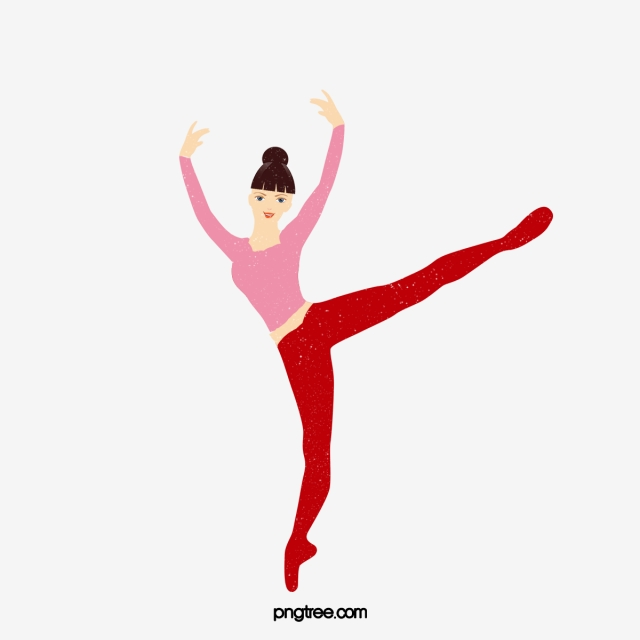 Cartoon Hand Drawn Ballet Dancer Illustration Ballet Dancer Dance Png Transparent Clipart Image And Psd File For Free Download
