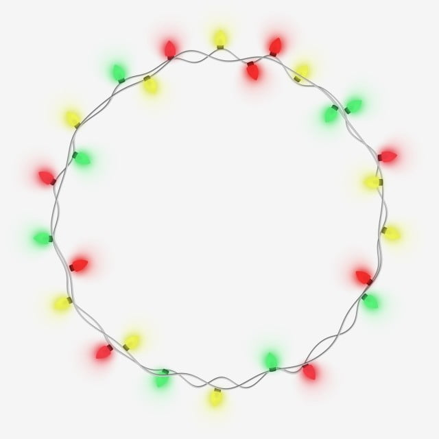 Led Christmas Lights Png.Ledcolorful Light Christmas String Garland In Circle Shape
