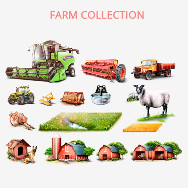 Mini Tractor With Seeder. Vector Illustration Royalty Free Cliparts,  Vectors, And Stock Illustration. Image 77914864.