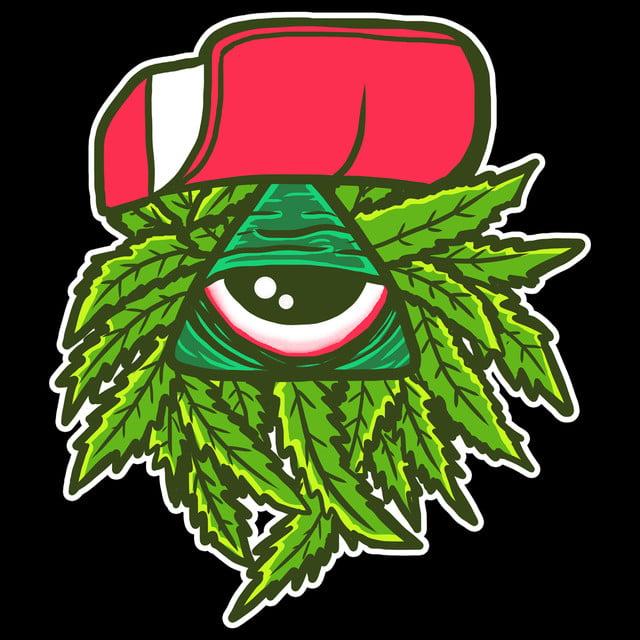 Weed Cartoon Illustration Psd File Tshirtdesign Tshirt Png