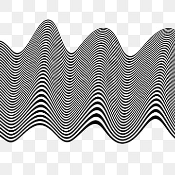 3d illusion black and white stripes, 3d, Ripple, Black And White PNG and PSD