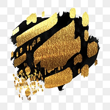 black gold brush luxury gold, Gold Powder, Brush Strokes, Ink PNG and PSD