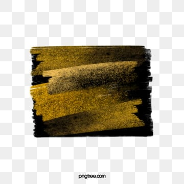 black gold brush simple universal text box, Golden, Gold Powder, Brush PNG and PSD