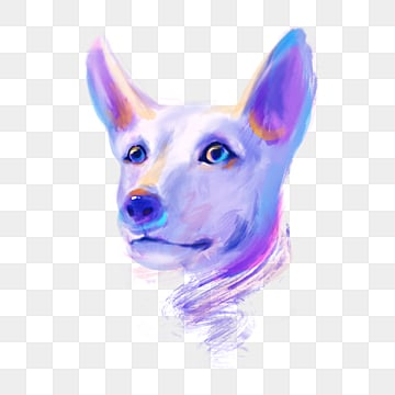 blue dog colorful hand drawn elements, Blue, Violet, Dog PNG and PSD