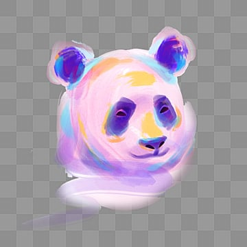 colored purple panda avatar elements, Violet, Color, Panda PNG and PSD