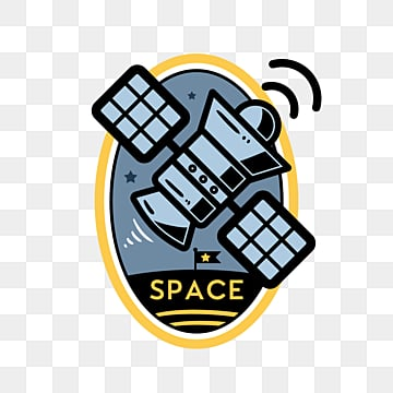 creative satellite universe sticker, Color, Ufo, Space PNG and PSD